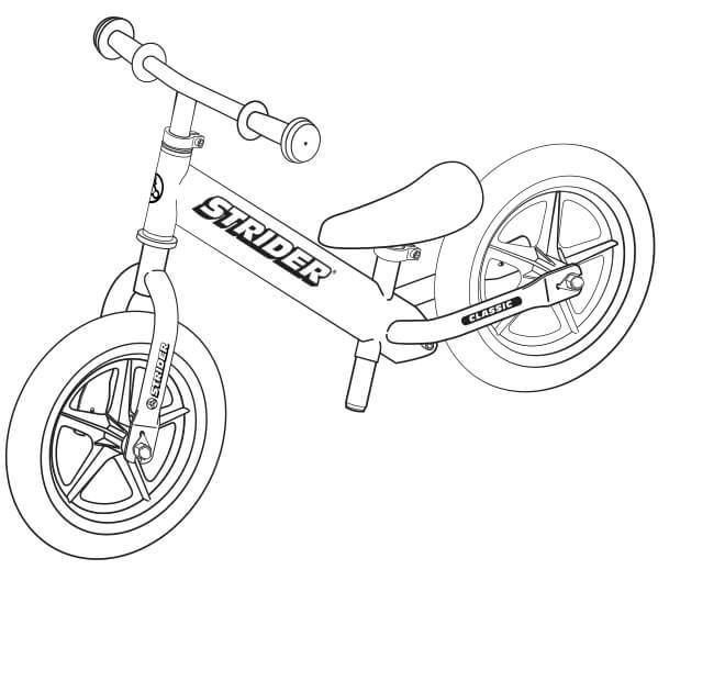 illustration Strider 12 Classic balance bike full specs