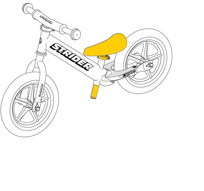 illustration Strider 12 Sport balance bike seat