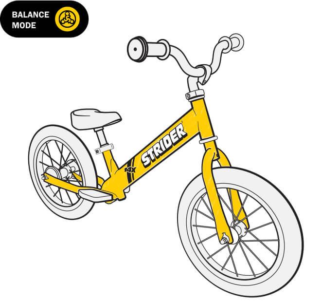 illustration Strider 14x balance bike frame