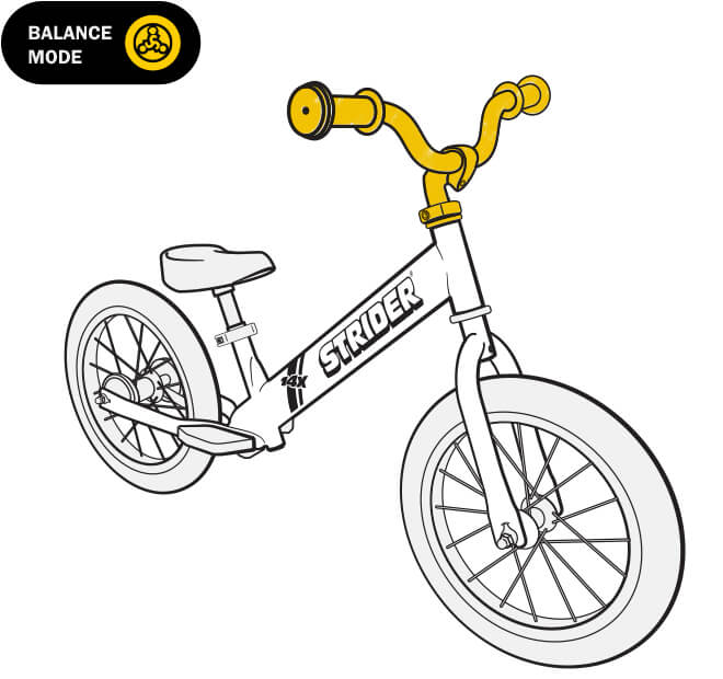 illustration Strider 14x balance bike handlebar