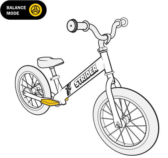 illustration Strider 14x balance bike footrests