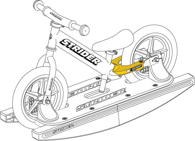 illustration Strider 12 Sport Baby Bundle footrests