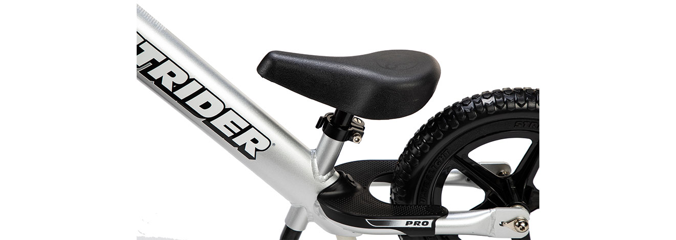 Detail image of silver 12 Pro seat and footrest
