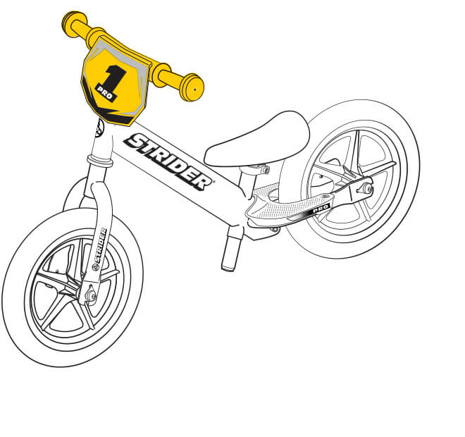 illustration Strider 12 Pro handlebar