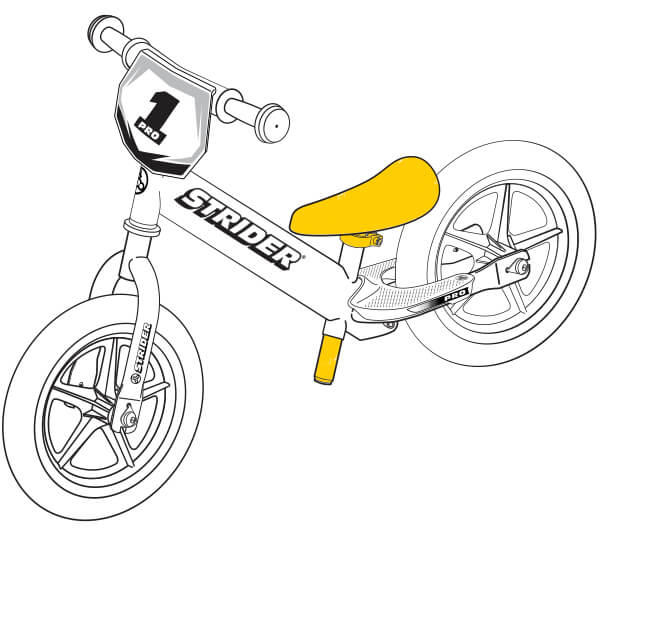 illustration Strider 12 Pro seat