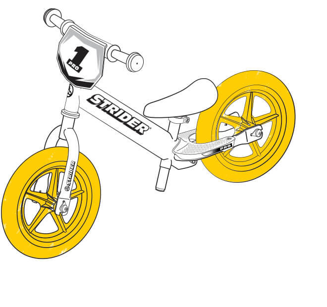 illustration Strider 12 Pro wheels