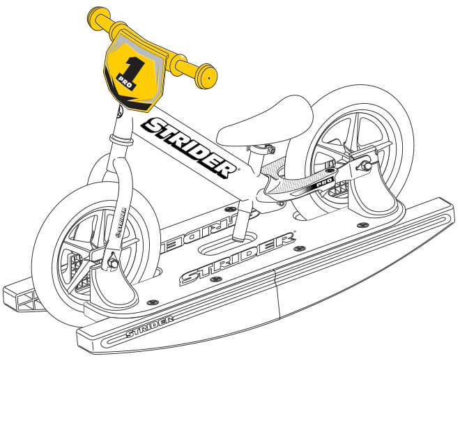 illustration Strider 12 Pro Baby Bundle handlebar