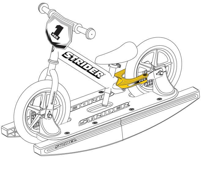 illustration Strider 12 Pro Baby Bundle footrests