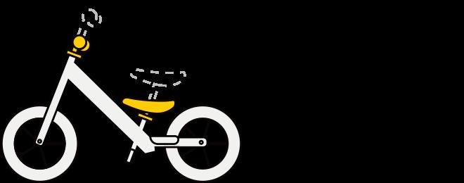 Illustration of Strider balance bike adjustable seat