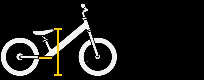 Strider 14x Balance Bike Footrest Illustration
