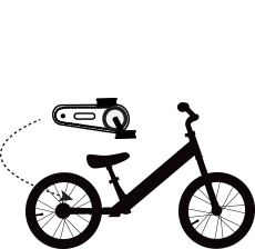 Strider Balance Bike Progression Illustration Step 2
