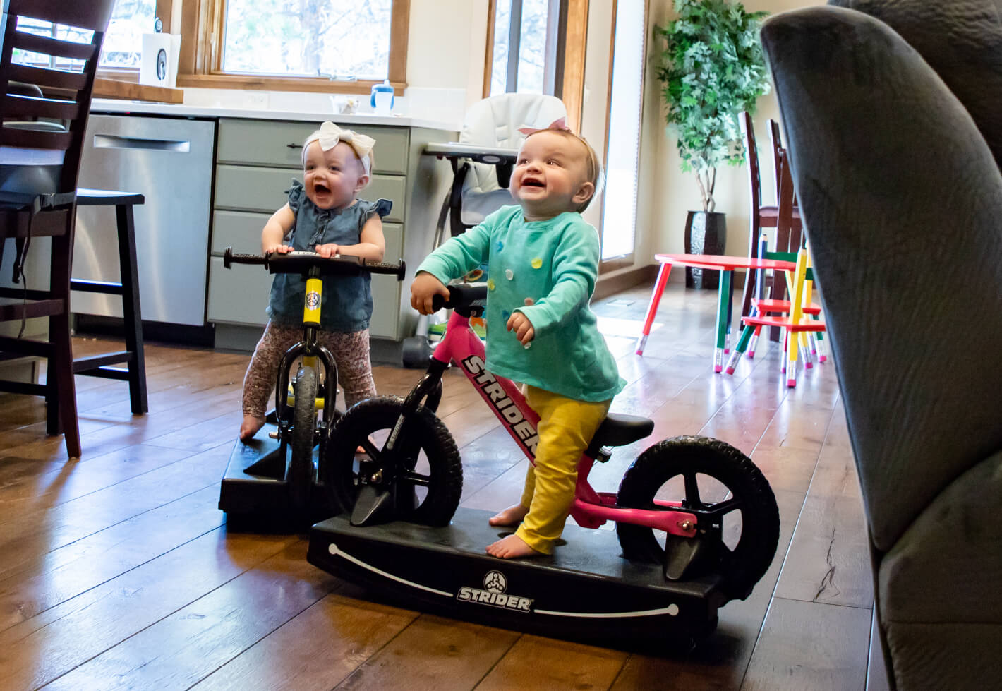 Babies on Strider Baby Bundle Balance Bikes