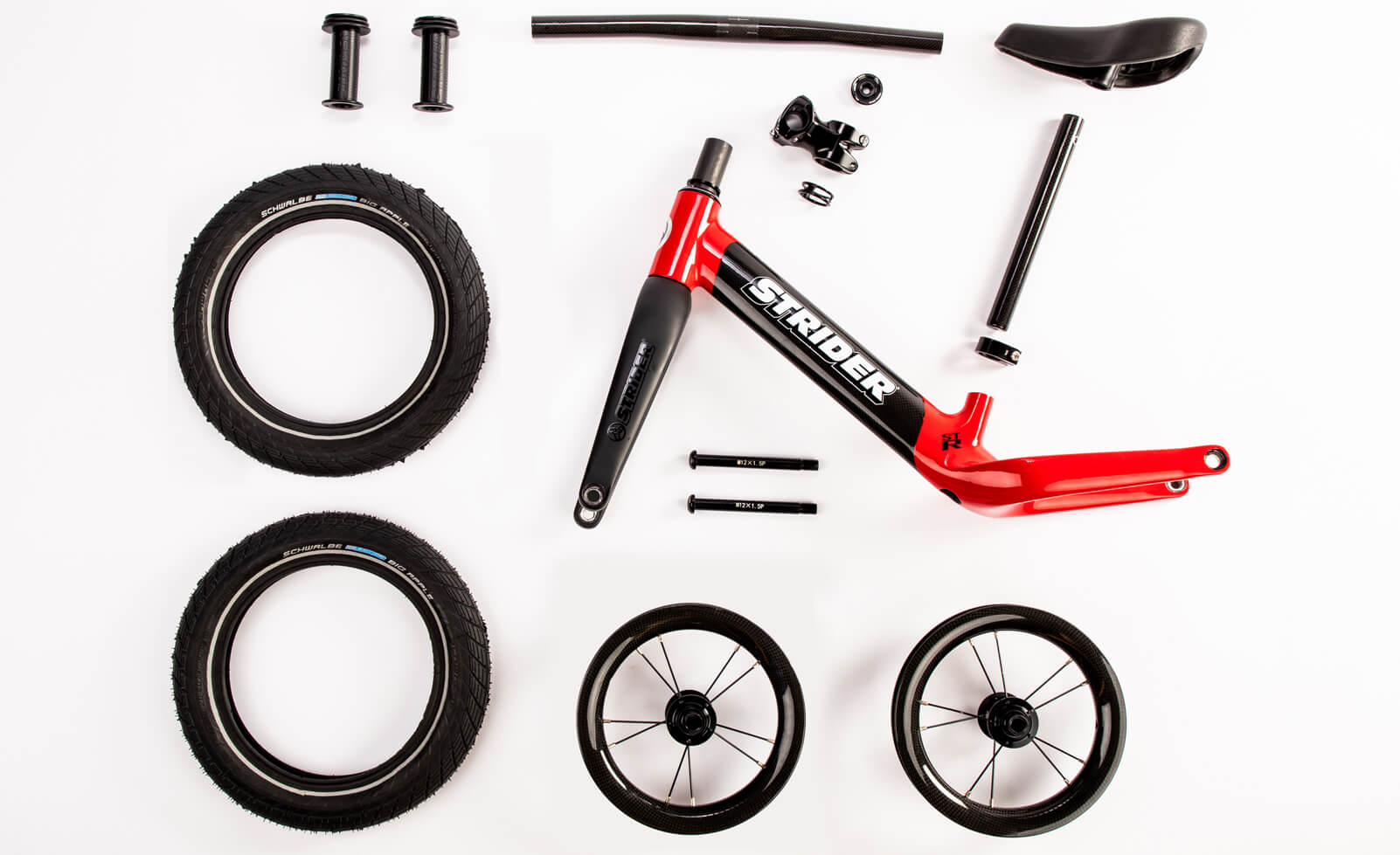 Strider ST-R Carbon Fiber Balance Bike - Parts