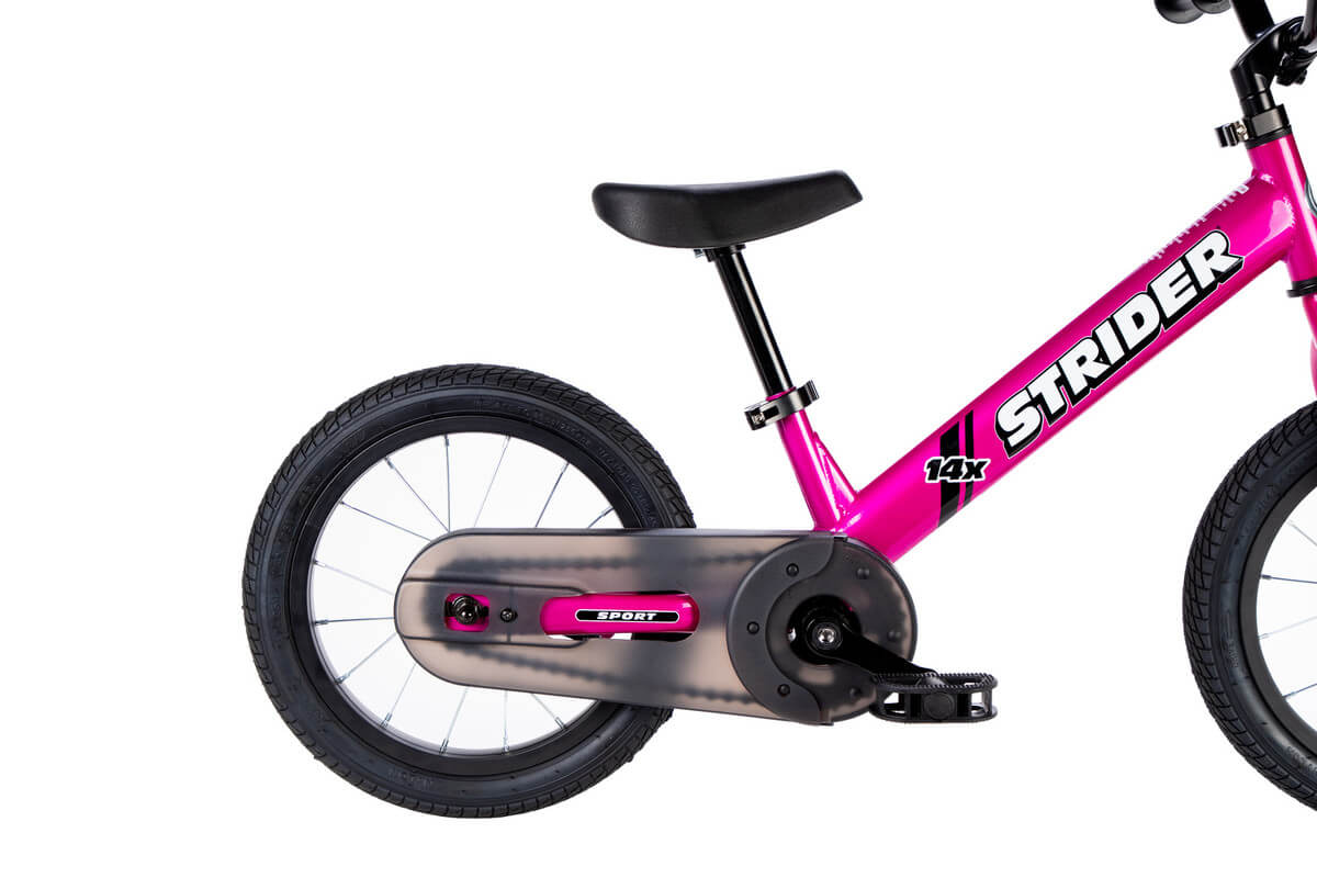 Strider 14x Sport Balance Bike - Fuchsia | Easy-Ride Pedal Conversion Kit
