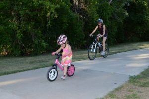 Mom and Daughter on Strider Balance BIkes