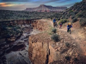 Strider Bikes Riding Along the Canyon