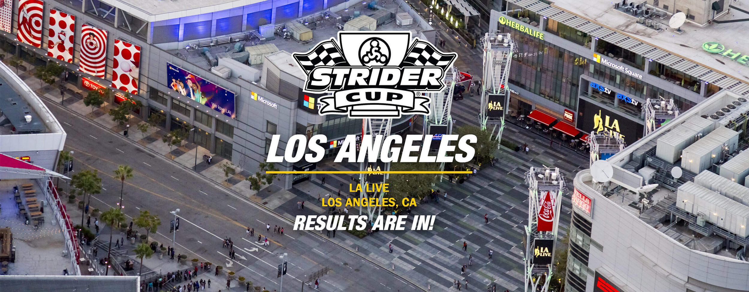 , Events – Los Angeles Results, Strider Balance Bikes