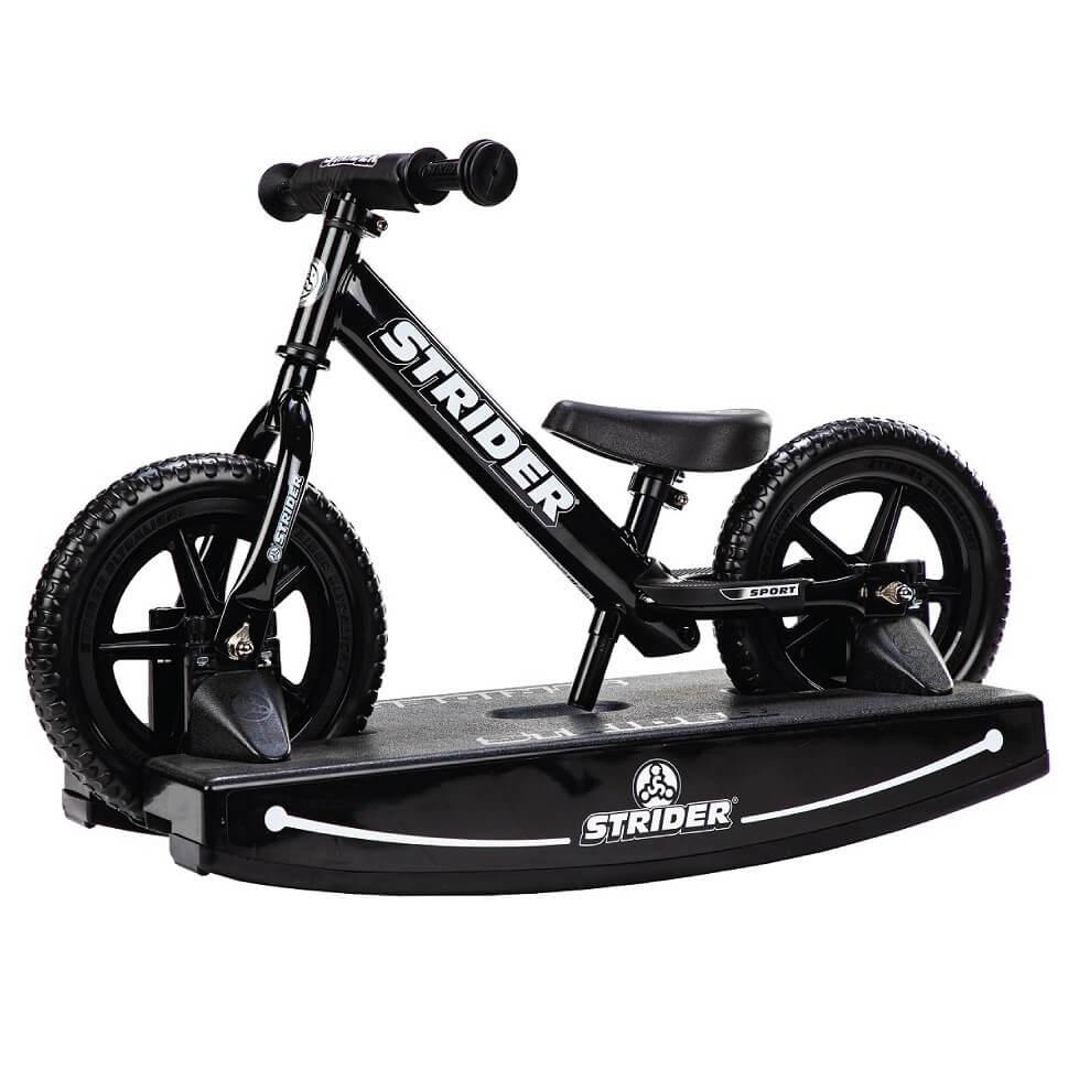 Strider 12 Sport Black 2-in-1 Rocking Bike