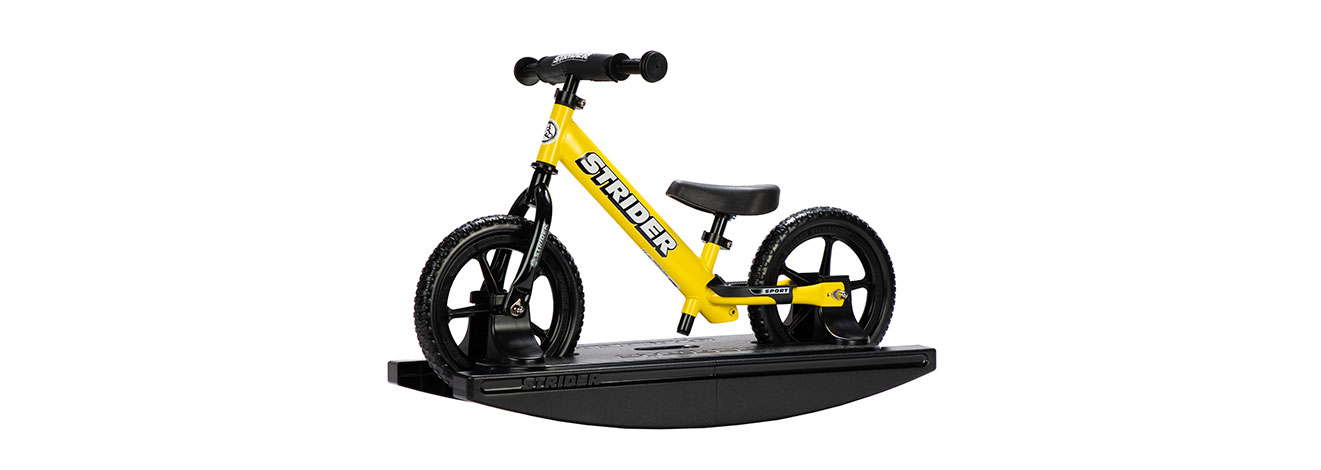 2-in-1 Rocking Bike Yellow Studio Image