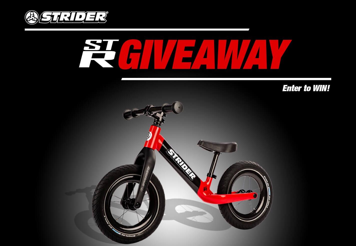 ST-R Carbon Fiber Bike Giveaway - Enter to Win | Strider Balance Bikes