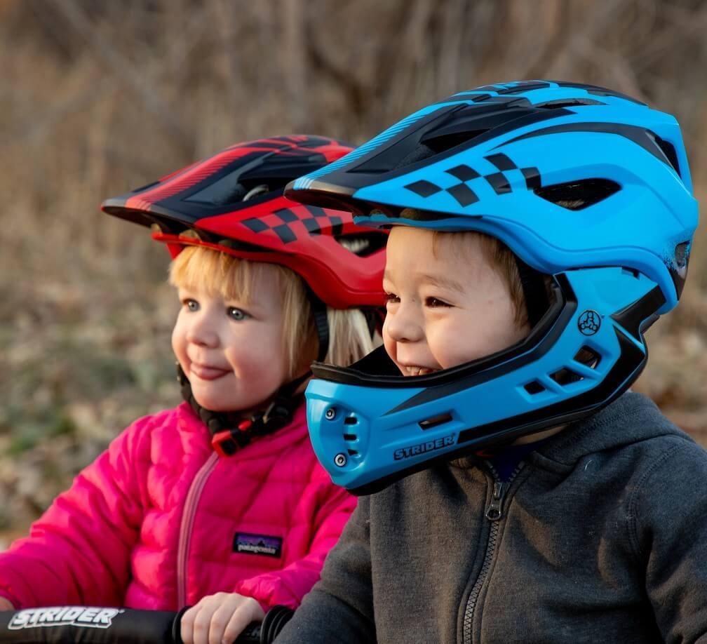Strider ST-R Full-Face Youth Bike Helmet 2-in-1 Full-Face and Open Face Helmet