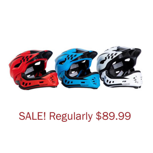 Strider ST-R Full-Face Youth Bike Helmet 2-in-1 Full-Face and Open Face Helmet