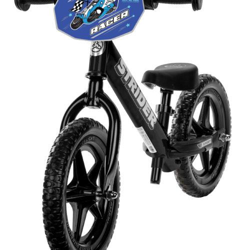 Custom Why We Ride Number plate on black 12 Sport